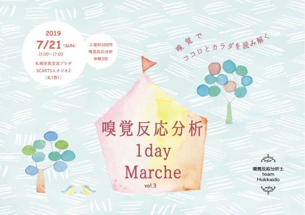 7/21 嗅覚反応分析 1day marche  vol.3